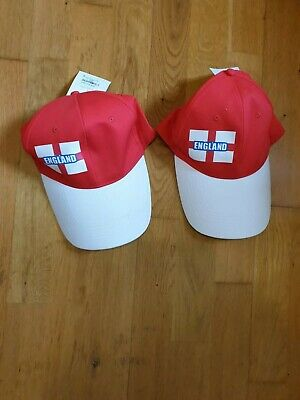 England 2x Supporters Summer Cap Hat Adult Gift -Rugby,Cricket, Football • 19.99£