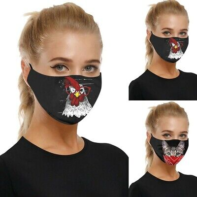 Unisex Adjustable Windproof Reusable Halloween Printed Face Mask+2PC Filters • 2.99£