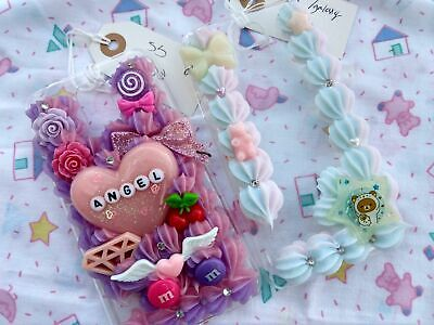 Pastel Kawaii Decoden Galaxy S5 Phone Cases Lot Of 2 • 14.47£