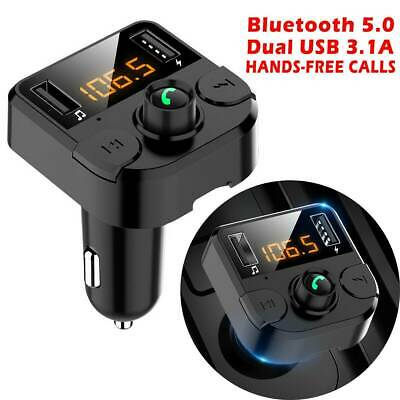 Wireless Bluetooth Car FM Transmitter Kit Dual USB Charger MP3 Player Handsfree • 8.99£
