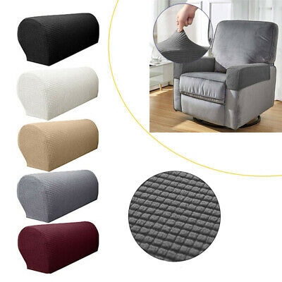 £4.99 • Buy 2X Removable Arm Chair Protector Universal Sofa Couch Armchair Covers Armrest