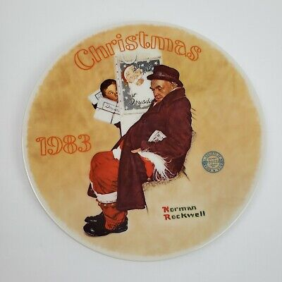 $ CDN14.65 • Buy Norman Rockwell  Santa In The Subway  By Edwin Knowles Decorative Plate 1983