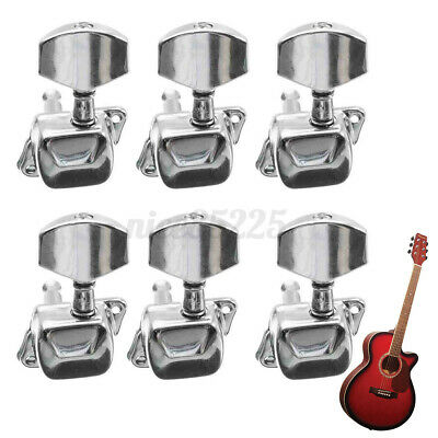 $ CDN13.40 • Buy Acoustic Guitar String Semiclosed Tuning Pegs Tuners Machine Heads 3x3 Chrome 1