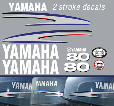 AU69 • Buy YAMAHA 80hp 2 Stroke And 4 Stroke Outboard Decals