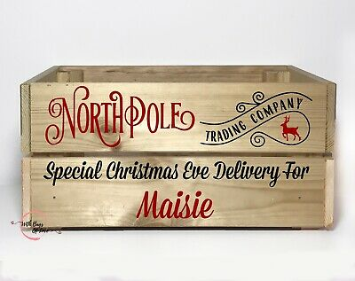Christmas Eve Box Crate DIY Personalised Vinyl Decal Sticker - NPMS • 3.99£