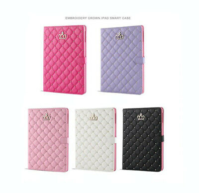£7.99 • Buy Luxury Bling Diamond Crown Leather Stand Smart Case Cover For IPad Mini 1 2 3 4