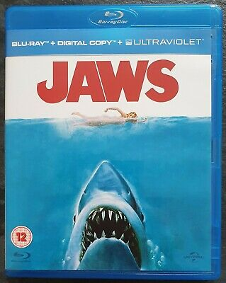 Jaws (1975) Blu-ray - Directed By Steven Spielberg - Like New • 4.75£