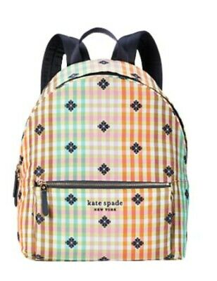 $ CDN164.78 • Buy Kate Spade Bella Plaid City Stripes Large Backpack New Without Tags