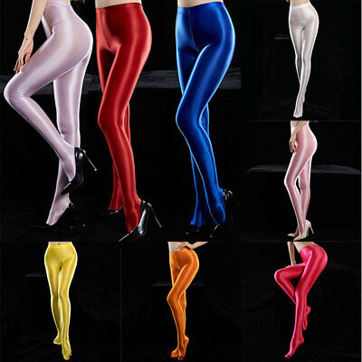 Women Sexy Opaque Pantyhose Spandex Satin Glossy Opaque Shiny Stockings Tights • 3.59£