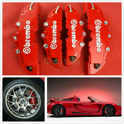 $20.99 • Buy 4pcs Front & Rear Universal Red 3D Brembo Style Car Disc Brake Caliper Covers