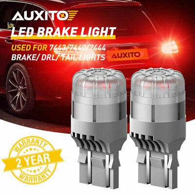 $12.99 • Buy AUXITO 7443 7444 Red LED Bulb Brake Tail Stop Parking Light 7440 T20 Bright Lamp