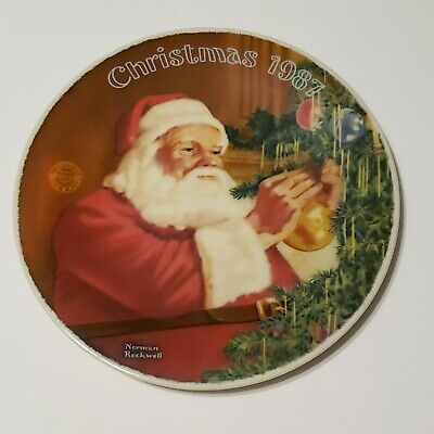 $ CDN14.65 • Buy Norman Rockwell  Santa's Golden Gift  By Edwin Knowles Decorative Plate 1987
