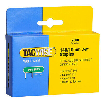 Tacwise 140 Series 10mm 12mm Stainless Steel Staples Marine Exterior • 7.99£