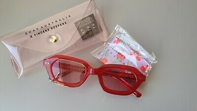 AU20 • Buy BNWT QUAY Australia X Finders Keepers Women's Anything Goes Sunglasses - Red