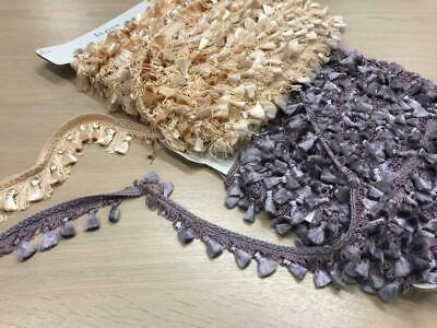 Tassel Trimming Silk String Upholstery Retriming Lampshades Costumes • 4.99£