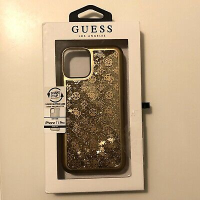 Genuine Guess Glitter 4G Peony Case Cover For Apple IPhone 11 Pro  In Gold • 21.95£