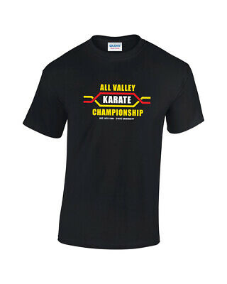 $13.60 • Buy All Valley Karate Championship 1984 Mens Printed Movie TV T-Shirt
