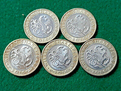 2016 JESTER Comedies Shakespeare Bill Rattlelance 2 Pound Coin £2 Circulated • 5.09£