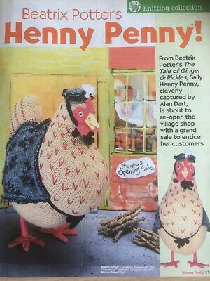 ALAN DART's  *RARE*  SALLY HENNY PENNY FROM BEATRIX POTTER TOY KNITTING PATTERN • 25£