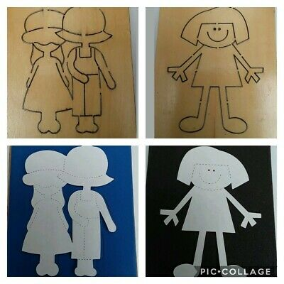 2 X Accucut Wooden Dies Fits Sizzix Girl, Prairie Girl And Boy • 25£