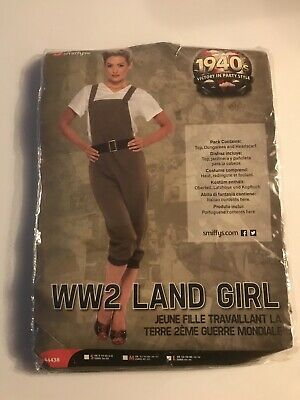 1940's Land Girl Costume Ladies WW2Fancy Dress Army Outfit Large Size Smiffys • 17.99£