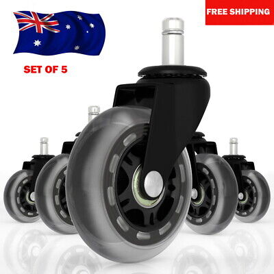 AU39.99 • Buy 5pcs Rollerblade Office Desk Chair Wheels Replacement Rolling Caster Grip Ring B