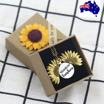AU5.99 • Buy You Are My Sunshine Gold Silver Rose Gold Pendant Gift Necklace Women Daughter