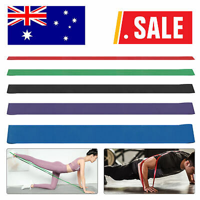 AU20.69 • Buy Resistance Bands Power Heavy Strength Exercise Fitness Gym Crossfit Yoga AU