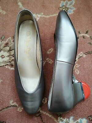 VAN DAL ~ LEATHER Court Shoes Pewter / Grey  ~ Size 7.5 / 42   Vgc  • 9.99£