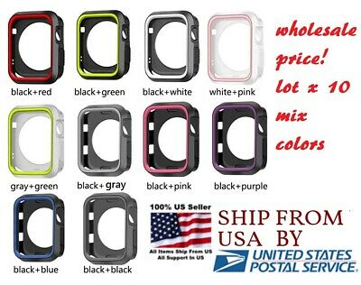 $ CDN31.83 • Buy Lot 10 Silicone Cover 38/40mm 42mm 44mm For Nike+ Apple Watch Series 1 2 3 4 5