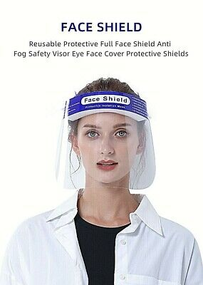 Face Shield Full Face Visor Protection Mask PPE Shield Transparent- MEDICAL A+ • 5.99£