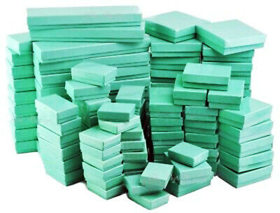 $ CDN40.51 • Buy Teal Blue Cotton Filled Jewelry Boxes  Lots Of 25-50-100