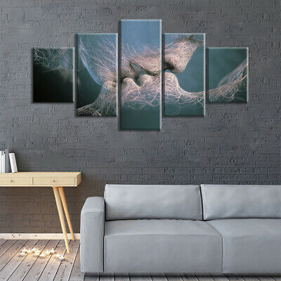 5Pcs Modern Canvas Art Painting Picture Prints House Living Room Wall Hangings • 17.59£