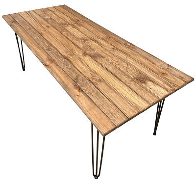 AU350 • Buy 2.0m Rustic Hairpin Table, Desk, Dining Table. Hand-made