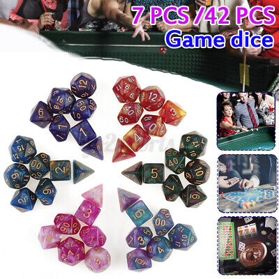 AU24.85 • Buy 7/42 Pcs Pearl Dnd Dice Set And Bag. Polyhedral Dice For Dungeons & Dragons RPG