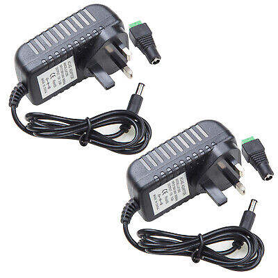 £10.89 • Buy Pack 2 DC12V 3A Power Supply Adapter Charger Transformer For 3528 5050 LED Strip