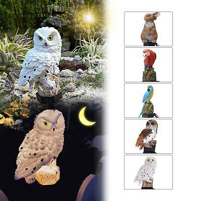 Solar Powered Garden LED Lights Owl Parrot Animal Lawn Ornament Waterproof Lamp • 6.99£