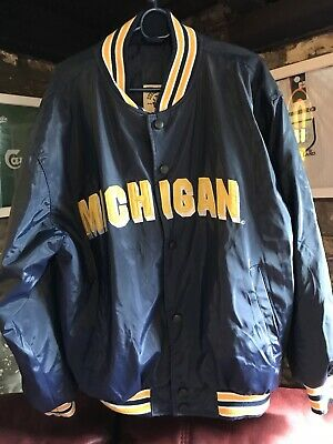 Vintage Michigan Wolverines Jacket Steve And Barrys Size Medium M • 50£