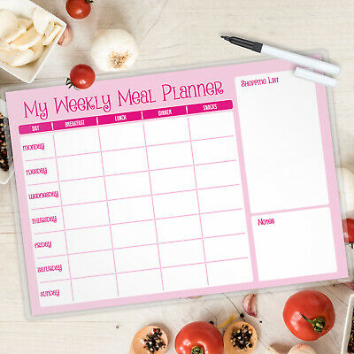 £5.50 • Buy Meal Planner Laminated A4 Landscape FREE PEN -MAGNETIC AVAILABLE