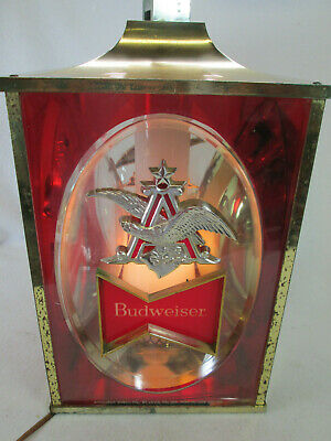 $ CDN117.31 • Buy Vintage 1968 Budweiser Beer Electric Lighted Hanging 3 Sided Bar Tavern Sign