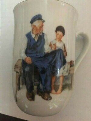 $ CDN6.25 • Buy Vintage 1982 Norman Rockwell Museum   The Lighthouse Keeper's Daughter  Cup Mug