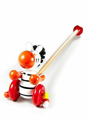 Mousehouse Push Along Toy Zebra Traditional Wooden Toy For Toddler Boy Or Girl • 12.99£