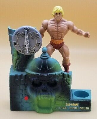 $75 • Buy He-Man Masters Of The Universe 1984 Talking Toothbrush Holder WORKS