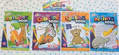 Bnip 4 Kids Activity Book Dot To Dot Colouring Spelling Travel Learning Gift  • 2.85£