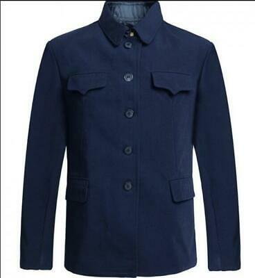 $40.47 • Buy Mens Turn Down Collar Tunic Jacket Wool Suit Single Breasted Mao Chinese Blazer