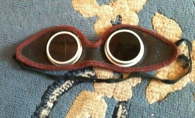 $40 • Buy Vintage Antique Goggles Welding Steampunk Aviator Dark Safety Glasses Cosplay