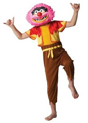 DELUXE ANIMAL THE MUPPETS Boys Fancy Dress Mask Movie Costume Outfit Age 7-8 Yrs • 12.99£