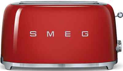 AU269 • Buy Smeg 50s Aesthetic Retro Style 4 Slice Bread Toaster Long Sandwich Maker Red NEW