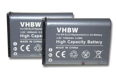 2x BATTERY 1400mAh FOR Nikon CoolPix S810, P900  • 13£