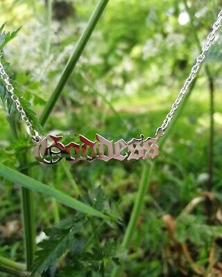 Goddess Necklace Chain Stainless Steel Gothic Edgy Greek Myth • 8£